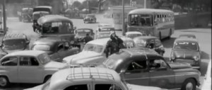 ingorgo, auto, strada