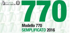 modello 770 scadenza 2016
