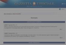 decreto semplificazioni in gazzetta