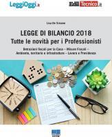 Legge di Bilancio 2018: tutte le novità per i professionisti