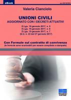 Unioni Civili aggiornato ai decreti attuativi D.Lgs.  n. 5 - n .6 - n .7 - del 19 gennaio 2017